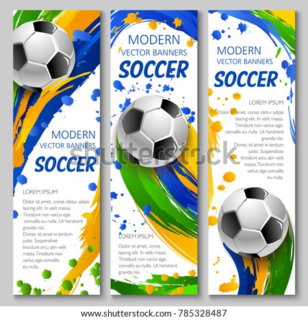 soccer vector banners for
