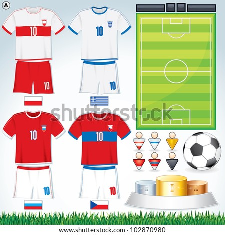 soccer vector collection euro