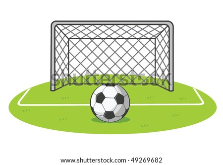 soccer vector illustration - stock vector