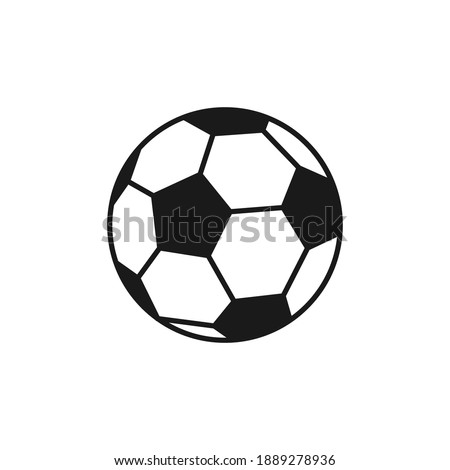 Soccer. Vector illustration of a ball. Isolated on a blank, editable background.