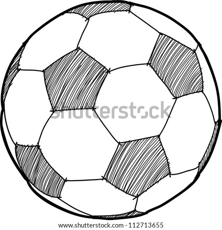 how to draw a very easy soccer ball