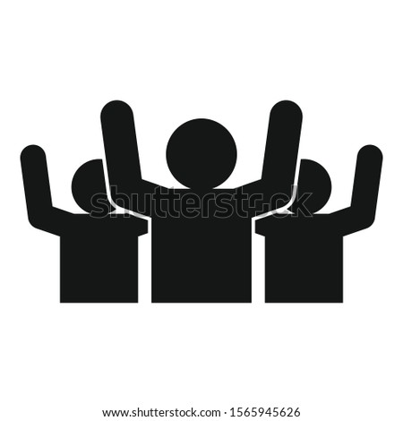 Social audience icon. Simple illustration of social audience vector icon for web design isolated on white background