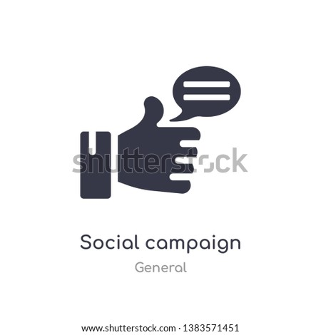 social campaign icon. isolated social campaign icon vector illustration from general collection. editable sing symbol can be use for web site and mobile app