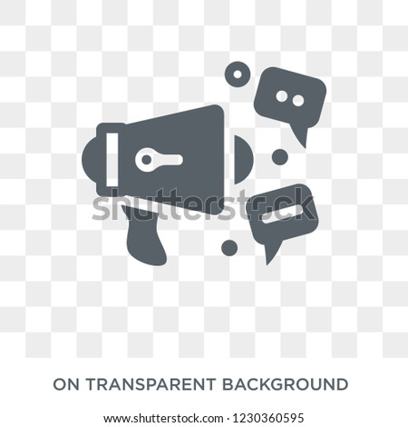 social campaign icon. Trendy flat vector social campaign icon on transparent background from General collection.