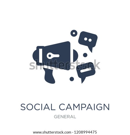 social campaign icon. Trendy flat vector social campaign icon on white background from General collection, vector illustration can be use for web and mobile, eps10
