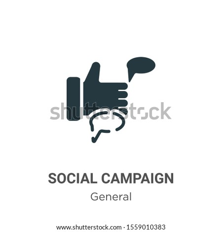 Social campaign vector icon on white background. Flat vector social campaign icon symbol sign from modern general collection for mobile concept and web apps design.