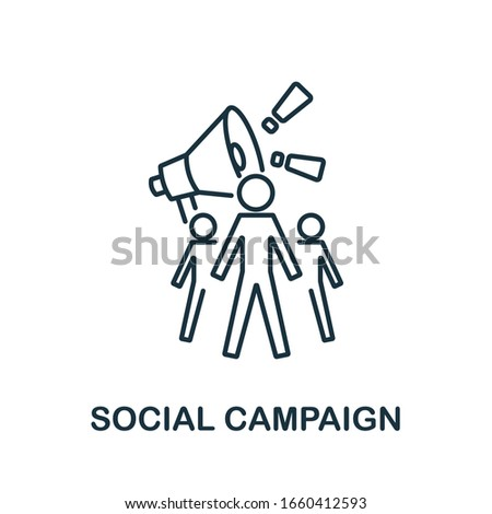 Social Campaing icon from digital marketing collection. Simple line element Social Campaing symbol for templates, web design and infographics Foto stock ©