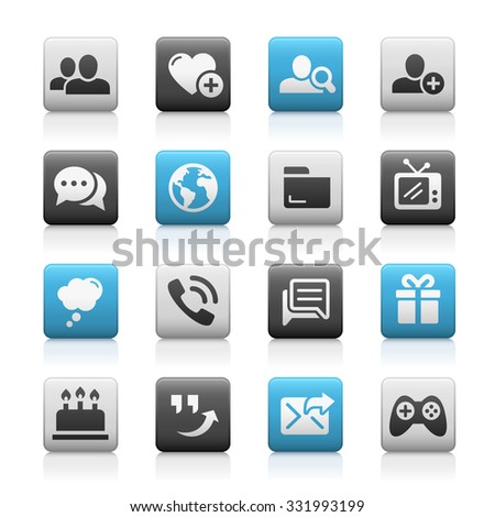 social communications icons