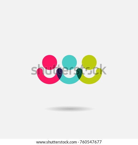Social community group of people vector icon or logo