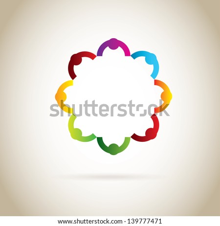 social design over gray background vector illustration