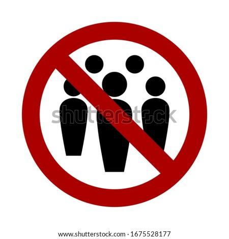 Social Distancing Avoid Crowds Keep Your Distance Icon. Vector Image.