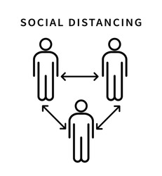 Social distancing icon. Keep the 1-2 meter distance. Coronovirus epidemic protective. Vector illustration