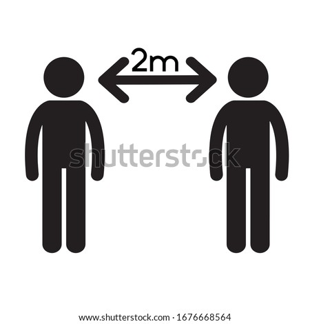 Social Distancing Icon Vector Illustration