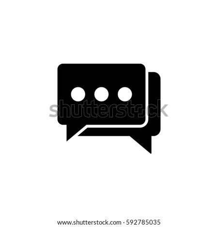 Social engagement solid icon, seo & development, Speech bubbles sign, a filled pattern on a white background, eps 10.
