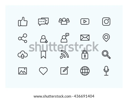 social icon set vector.