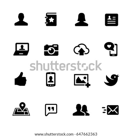 Social Icons // Black Series - Vector icons for your digital or print projects.