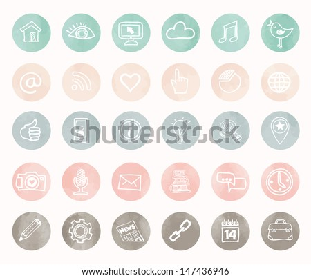 Social icons - hand drawn design