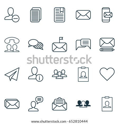Social Icons Set. Collection Of Team, Edit Mail, Note Page And Other Elements. Also Includes Symbols Such As Team, Open, Origami.