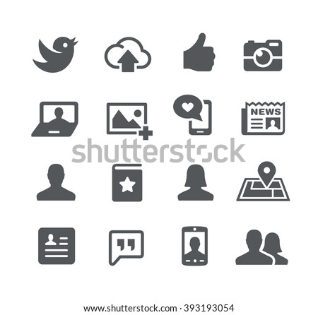 Social Icons // Utility Series