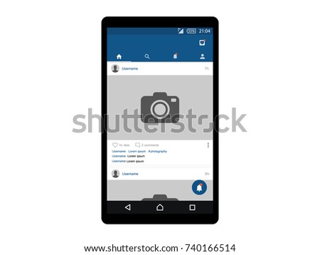 Social Interface Concept Mobile App Vector
