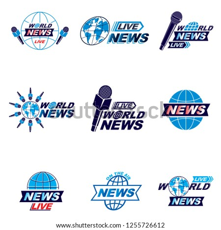 social mass media logo  emblems