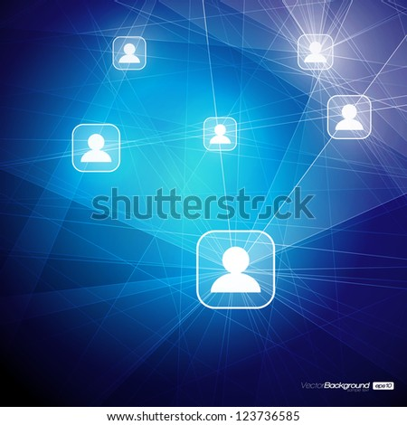 Social Media Abstract Illustration | Communication in the Global Computer Networks | EPS10 Vector Design