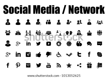 social media and network icons - Shutterstock ID 1013052625