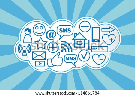 Social media cloud computing background