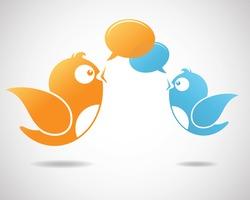 Social Media Communication (Illustration of social media)