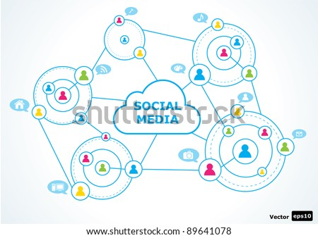 Social media concept. vector illustration