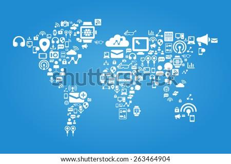 social media concept   world