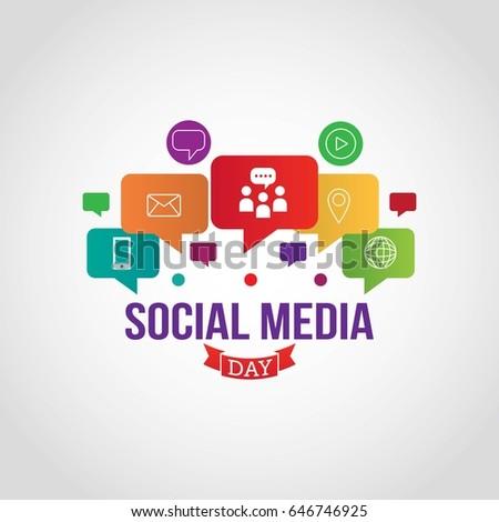 Social Media Day Vector Illustration