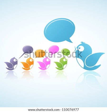 Social Media Discussion (Vector illustration of social media) - stock vector