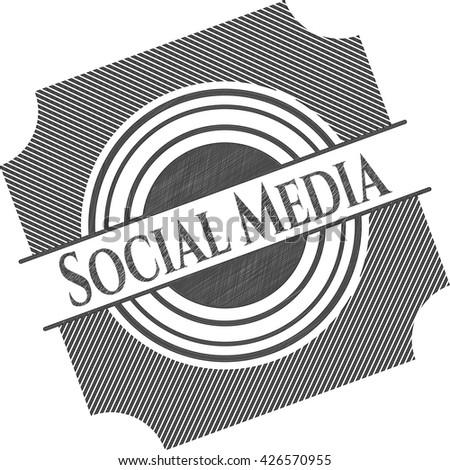 Social Media draw (pencil strokes)