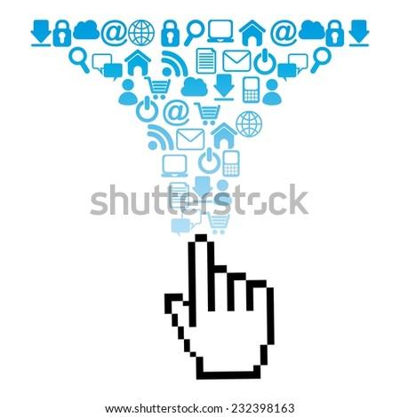 social media graphic design , vector illustration