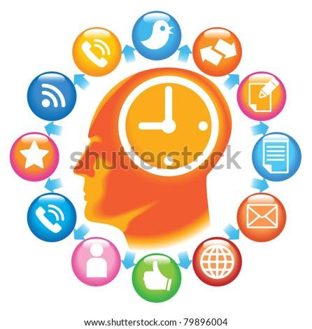Social-Media-Head. The development of global communications