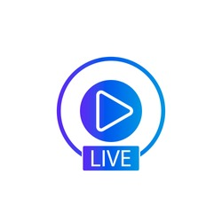 Social media icon avatar stories user LIVE video streaming colorful gradient. Modern vector illustration.