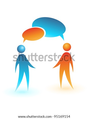Social media icon. Concept vector people. Business chat.