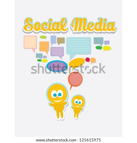 Social media icon. social media marketing abstract concept. network background.