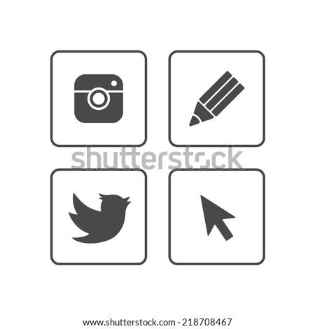 Social Media icons | Black