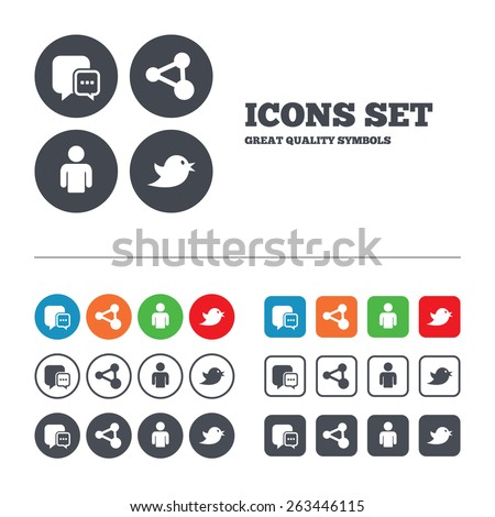 stock-vector-social-media-icons-chat-speech-bubble-and-share-link-symbols-bird-sign-human-person-profile-web