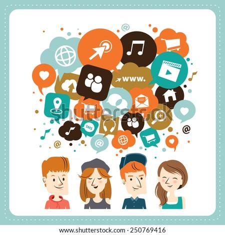 social media icons in speech
