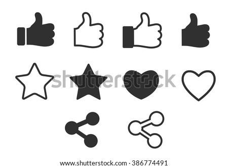 social media icons set  share