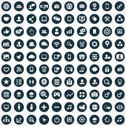social media Icons Vector set