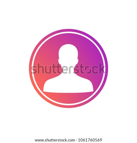 Social media instagram icon user, avatar, admin gradient colorful. EPS 10