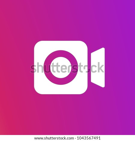 Social media Instagram video camera icon, symbol, web, ui. Vector illustration. EPS 10