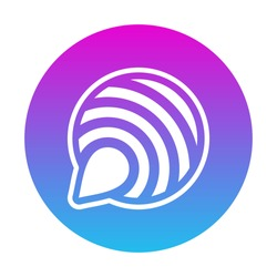 Social Media Logo App Icon. Chat Application combined from chat and wifi signal symbol