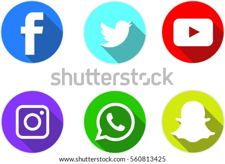 social media logotype flat icon