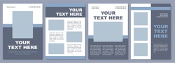 Social media marketing campaign brochure template. Flyer, booklet, leaflet print, cover design with copy space. Your text here. Vector layouts for magazines, annual reports, advertising posters