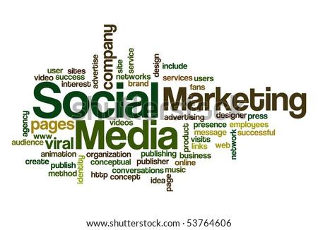 Social media Marketing - Word Cloud - stock vector